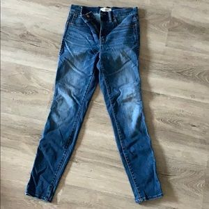 Madewell jeans 10 inch high rise skinny